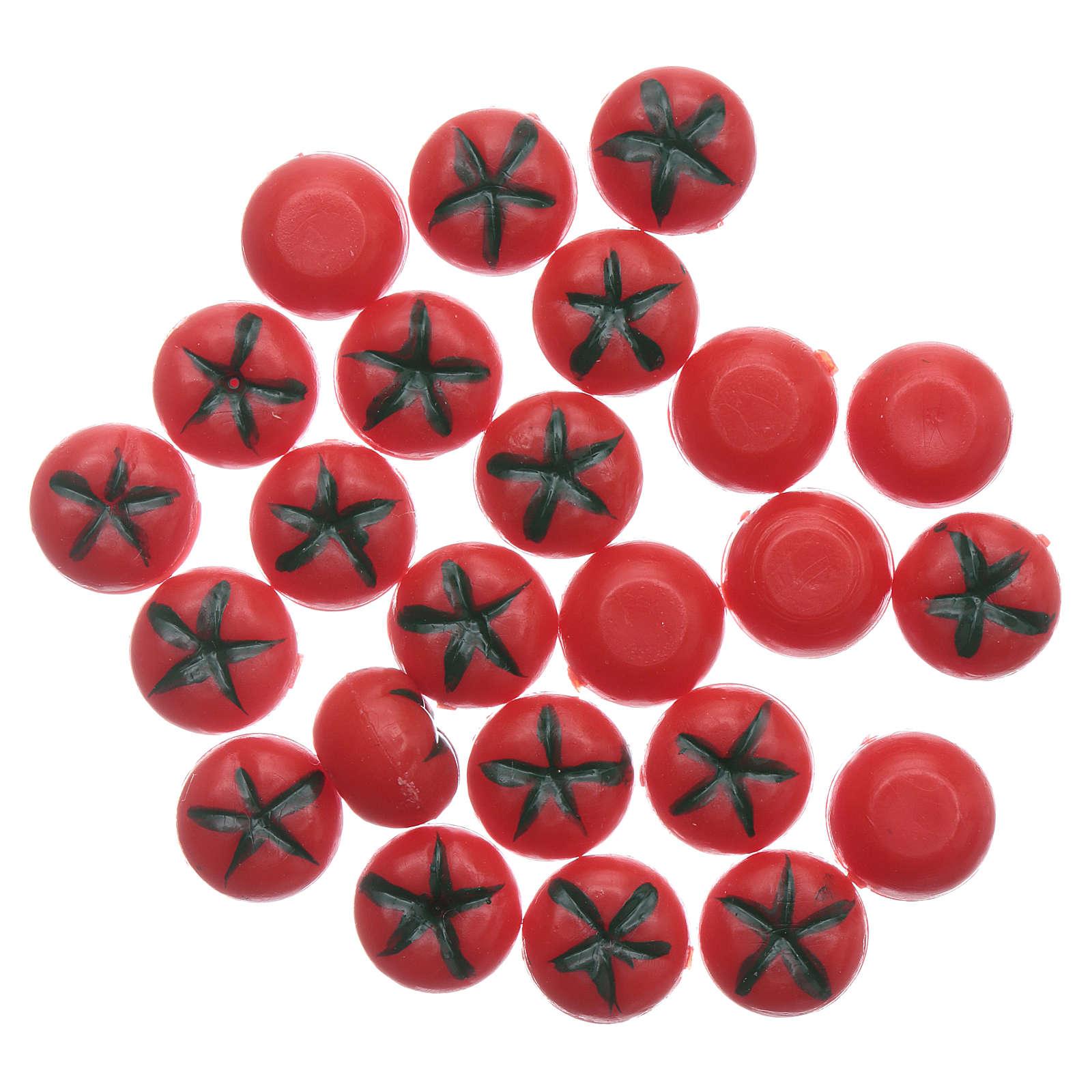 Pomodoro rosso lucido 24 pz - diam 1 cm 4
