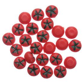 Comida em Miniatura para Presépio: Tomate vermelho brilhante 24 peças diâm. 1 cm