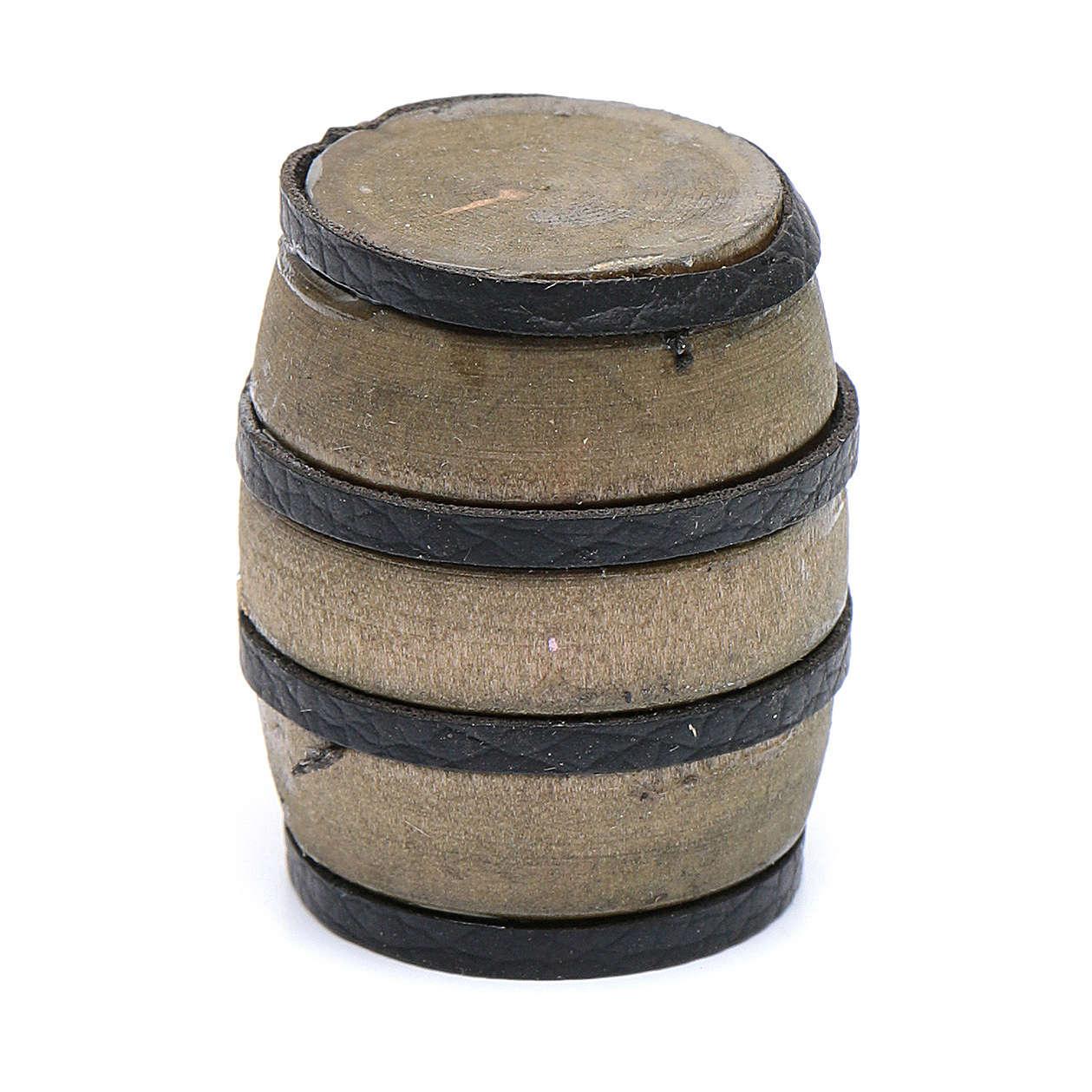 Barril marrón belén 3,6 cm h real 4