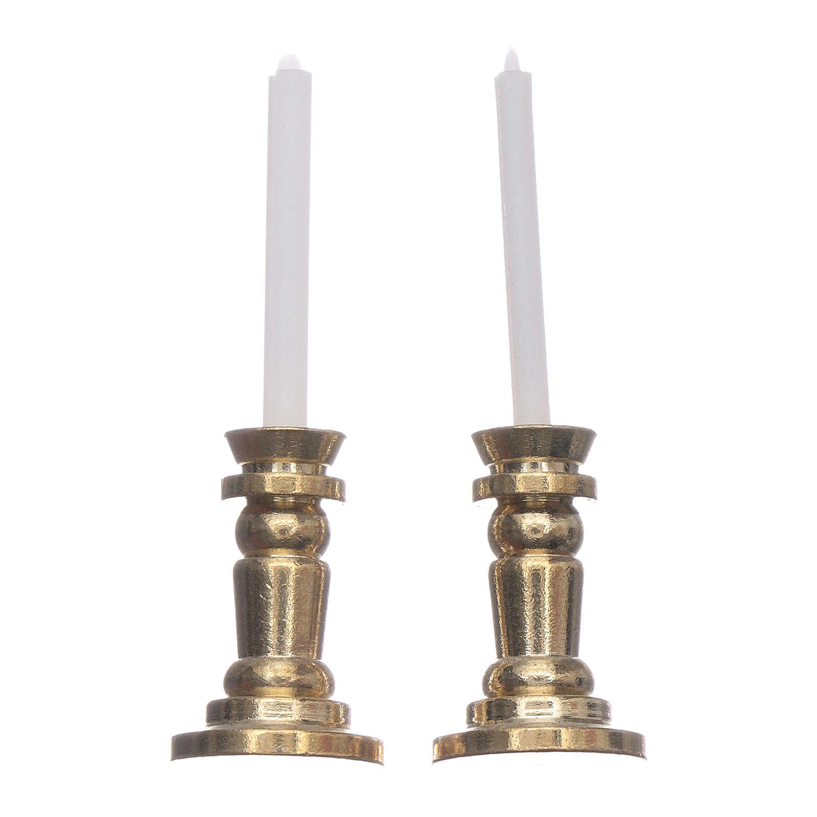 Pareja candeleros belén h real 3,5 cm 4
