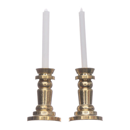 Pareja candeleros belén h real 3,5 cm 1
