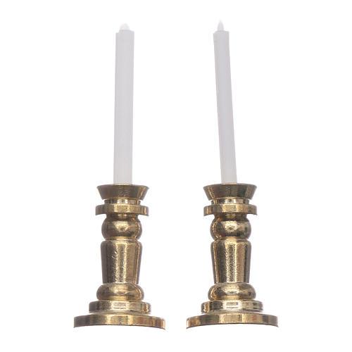 Jeu de chandeliers crèche h réelle 3,5 cm 1