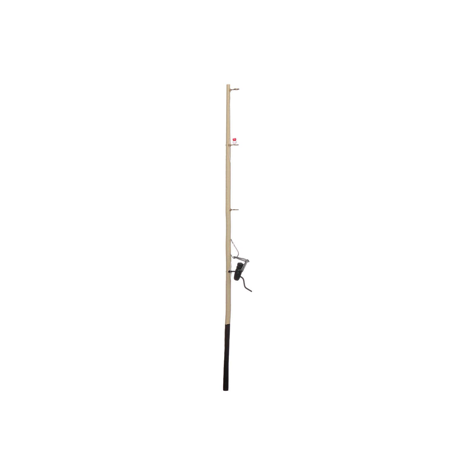 Canna da pesca presepe legno h reale 17,5 cm 4