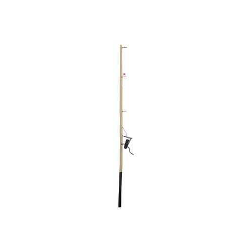 Canna da pesca presepe legno h reale 17,5 cm 2