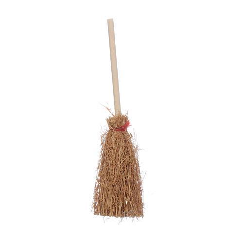 Straw Broom Nativity real h 10 cm 1