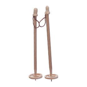Acessórios de Casa para Presépio: Bastões para esqui presépio 7,5x2 cm
