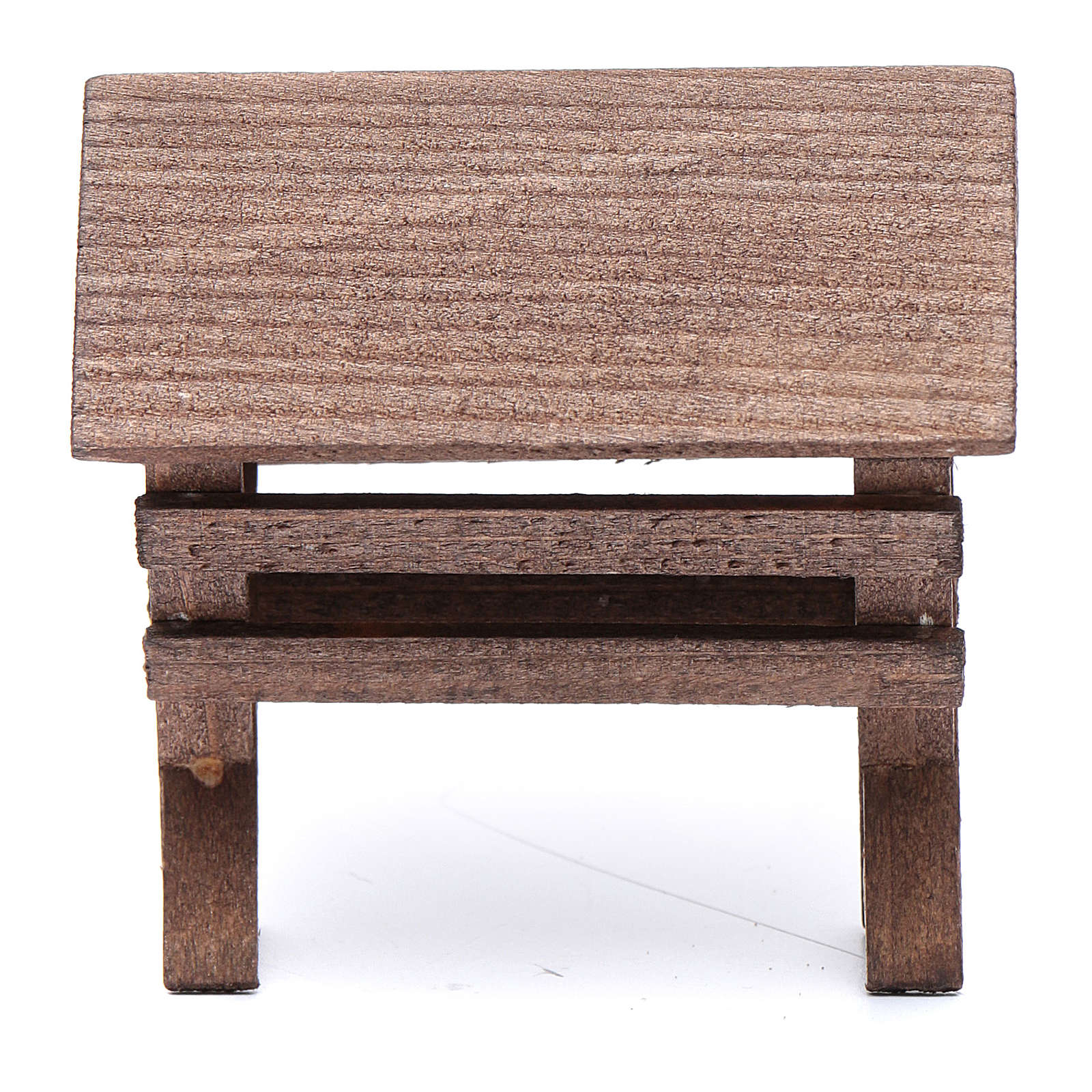 Mangiatoia per animali legno presepe 8x6,5x8 cm 4