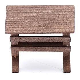 Mangiatoia per animali legno presepe 8x6,5x8 cm s1