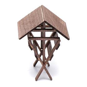 Mangiatoia per animali legno presepe 8x6,5x8 cm s3