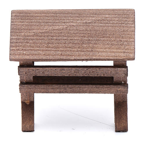 Mangiatoia per animali legno presepe 8x6,5x8 cm 1