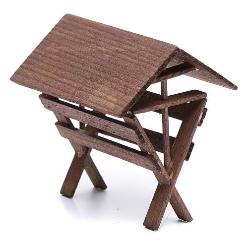 Mangiatoia per animali legno presepe 8x6,5x8 cm 2
