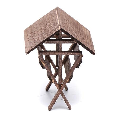 Mangiatoia per animali legno presepe 8x6,5x8 cm 3