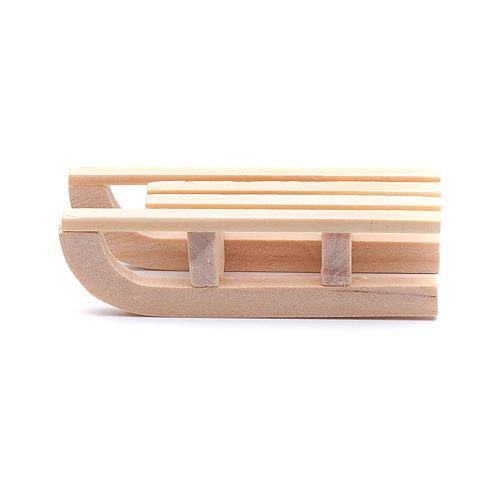 Trineo madera 1,5x5x2 cm para belén 1