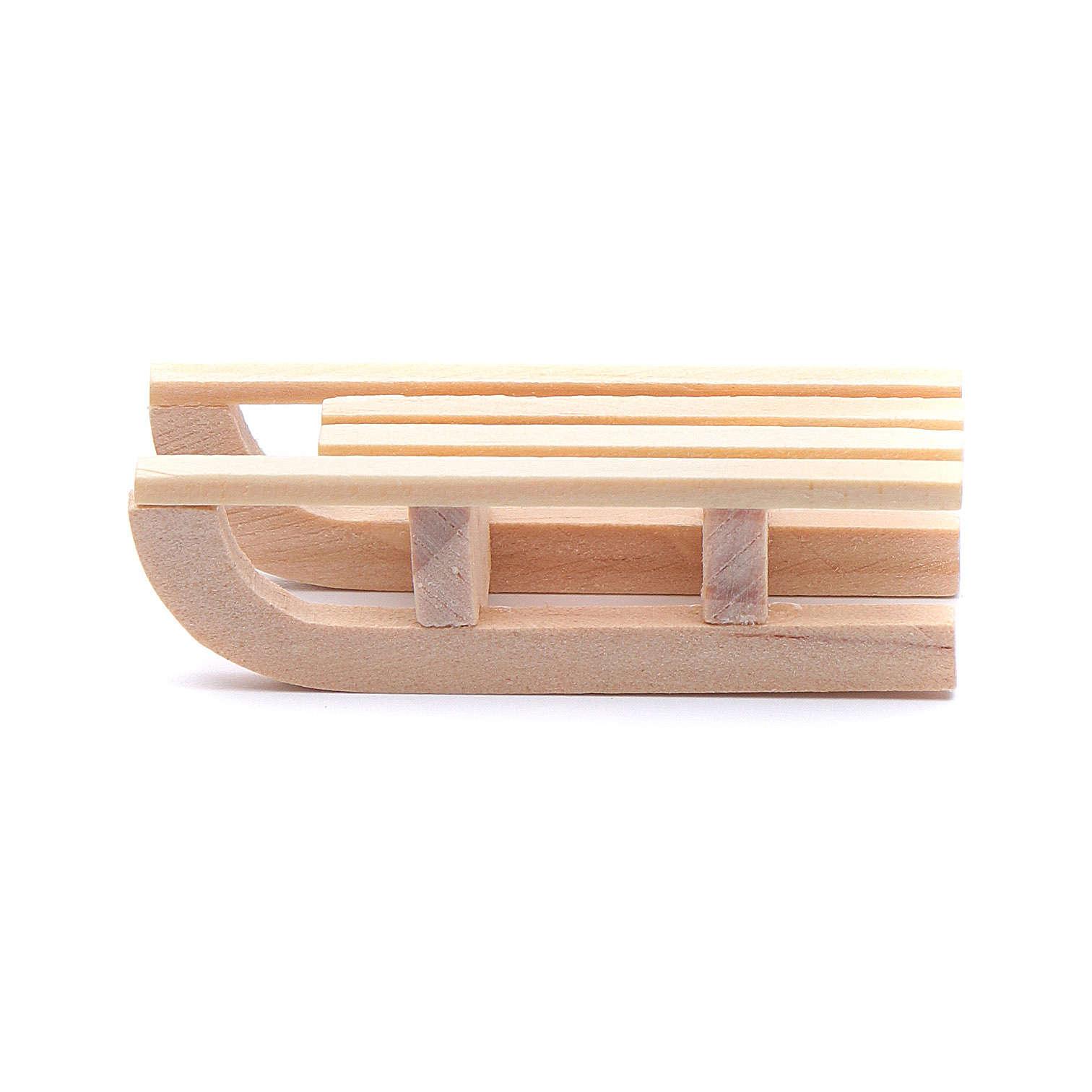 Traineau bois 1,5x5x2 cm pour crèche 4