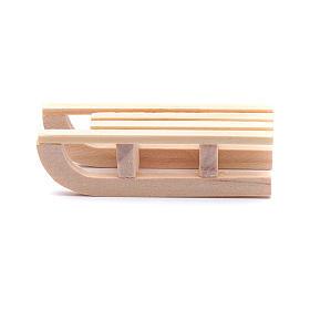 Acessórios de Casa para Presépio: Trenó madeira 1,5x5x2 cm para presépio