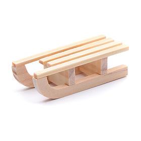 Trenó madeira 1,5x5x2 cm para presépio s2