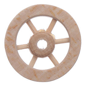 Nativity scene wooden wheel diameter 3 cm s2