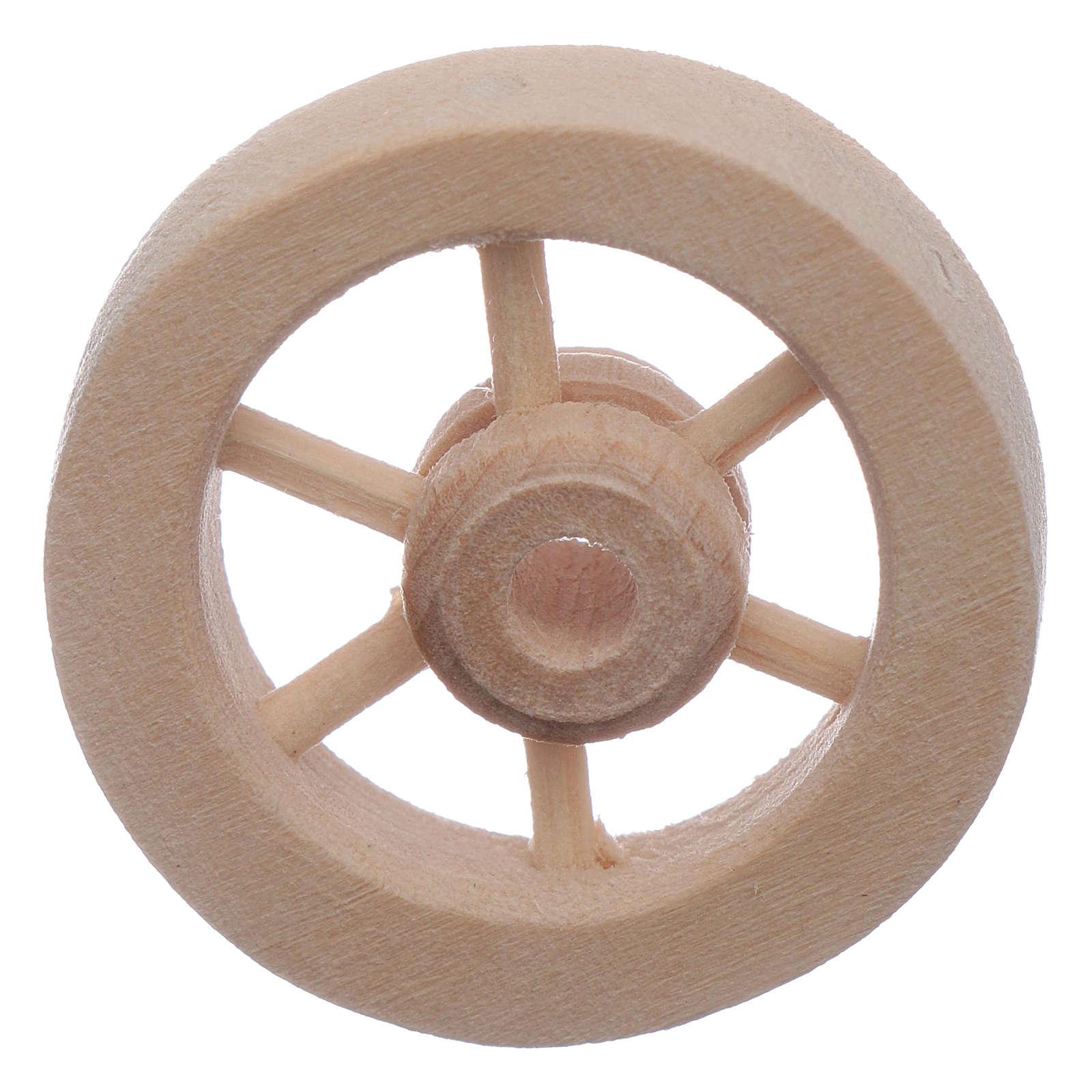 Ruota carro legno presepe diam. 3 cm 4