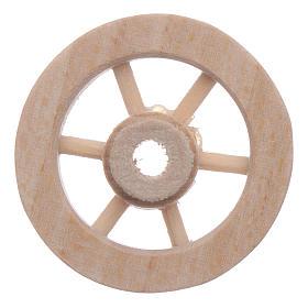Ruota carro legno presepe diam. 3 cm s1
