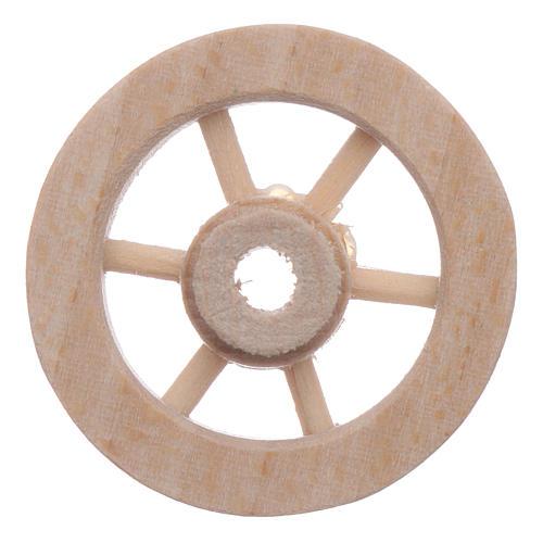 Ruota carro legno presepe diam. 3 cm 1