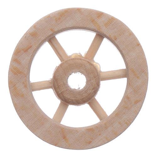 Ruota carro legno presepe diam. 3 cm 2