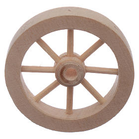 Rueda carro de madera belén diám. 4 cm s2