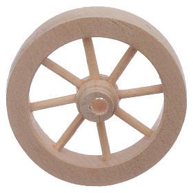 Roue charrette en bois crèche diamètre 4 cm s1
