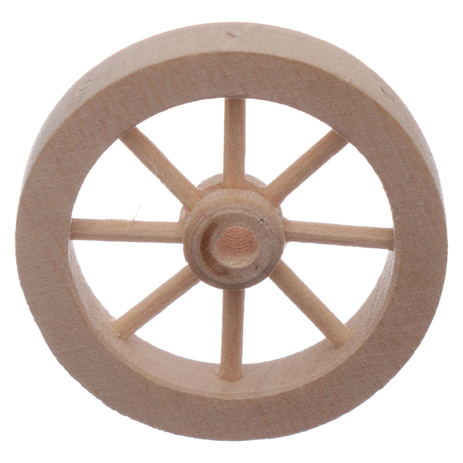 Roda carrinho em madeira presépio diâm. 4 cm 4