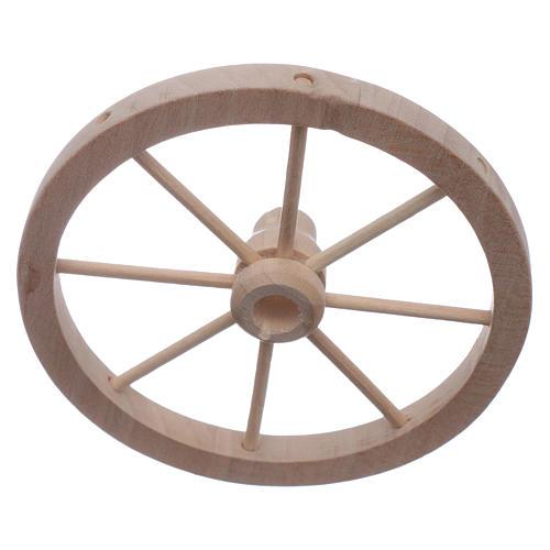 Nativity scene wooden cart wheel diam. 9 cm 1