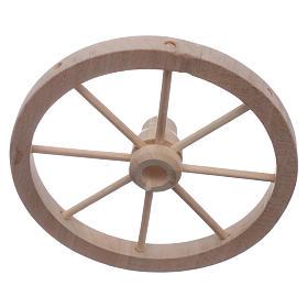 Ruota carro presepe legno diam 9 cm s1