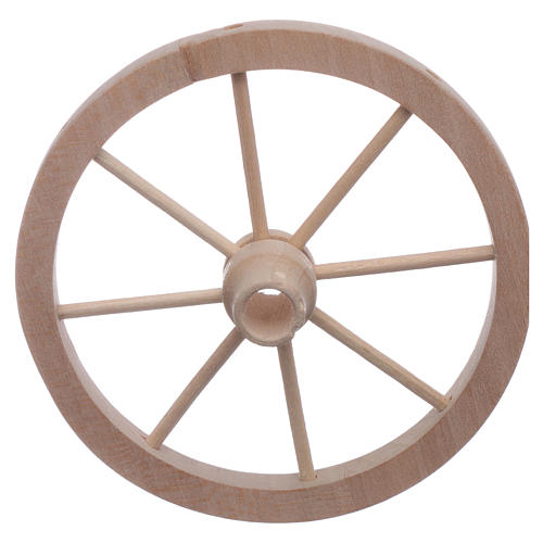 Ruota carro presepe legno diam 9 cm 2