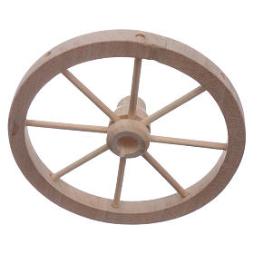 Nativity scene wooden cart wheel diam. 9 cm s1