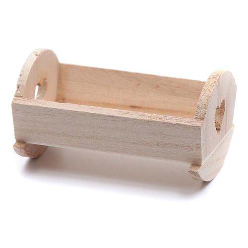 Berceau bois pour Enfant Jésus de 6-6,5 cm 2