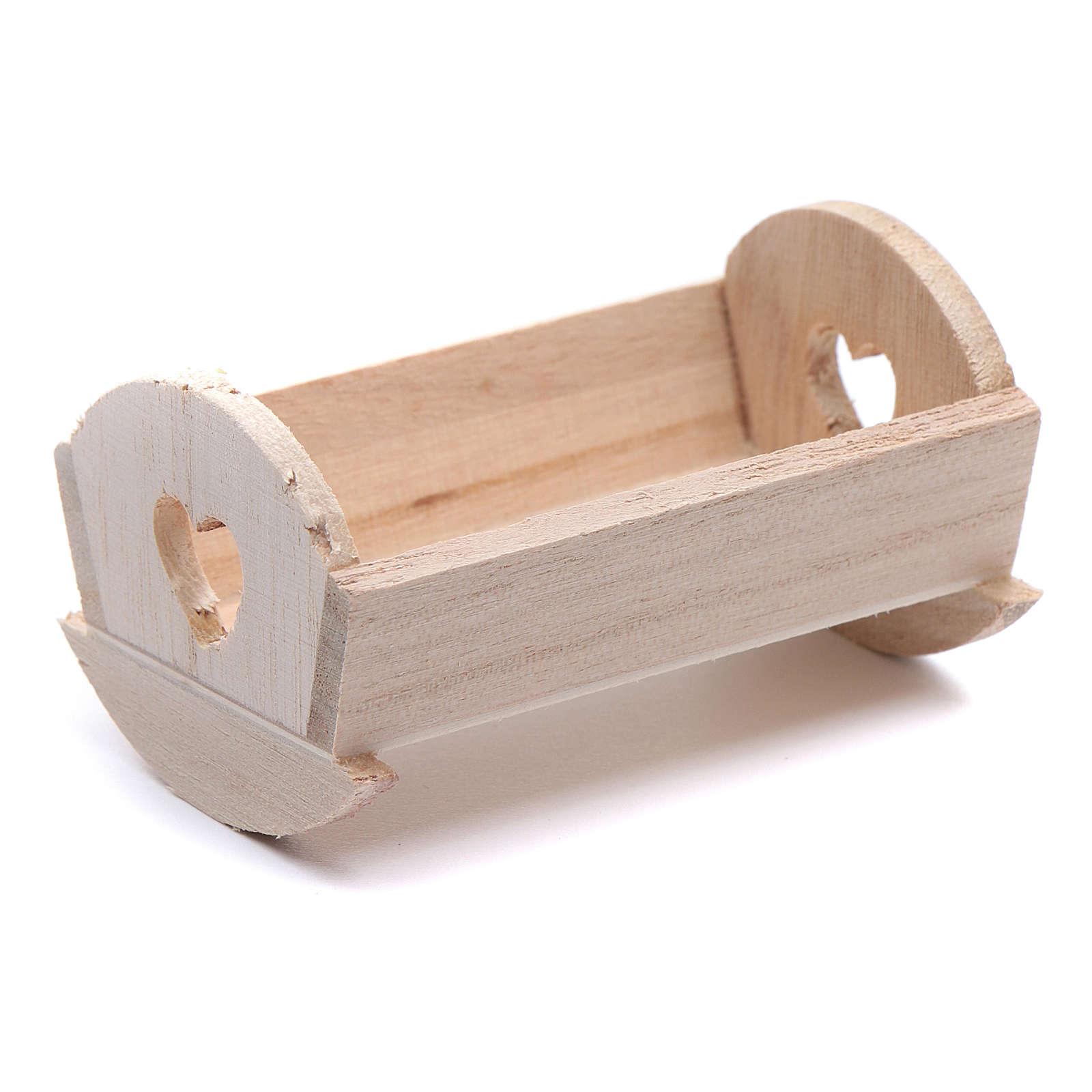 Culla legno per Gesù Bambino di 6-6,5 cm 3