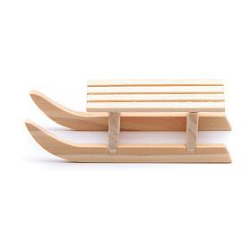 Slitta legno 2x8x3 cm per presepe s1