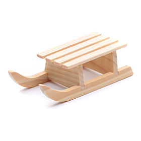 Slitta legno 2x8x3 cm per presepe s2
