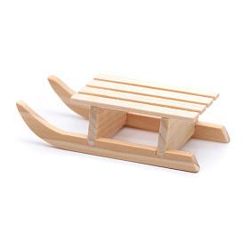 Slitta legno 2x8x3 cm per presepe s3