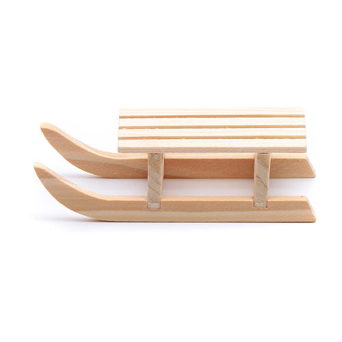 Slitta legno 2x8x3 cm per presepe 1
