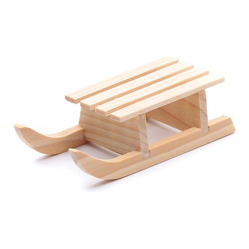 Slitta legno 2x8x3 cm per presepe 2