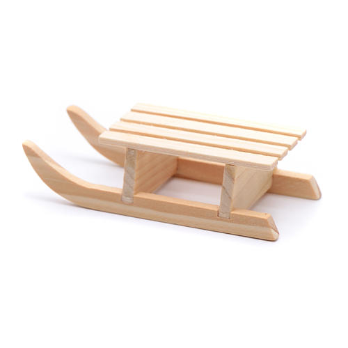 Slitta legno 2x8x3 cm per presepe 3