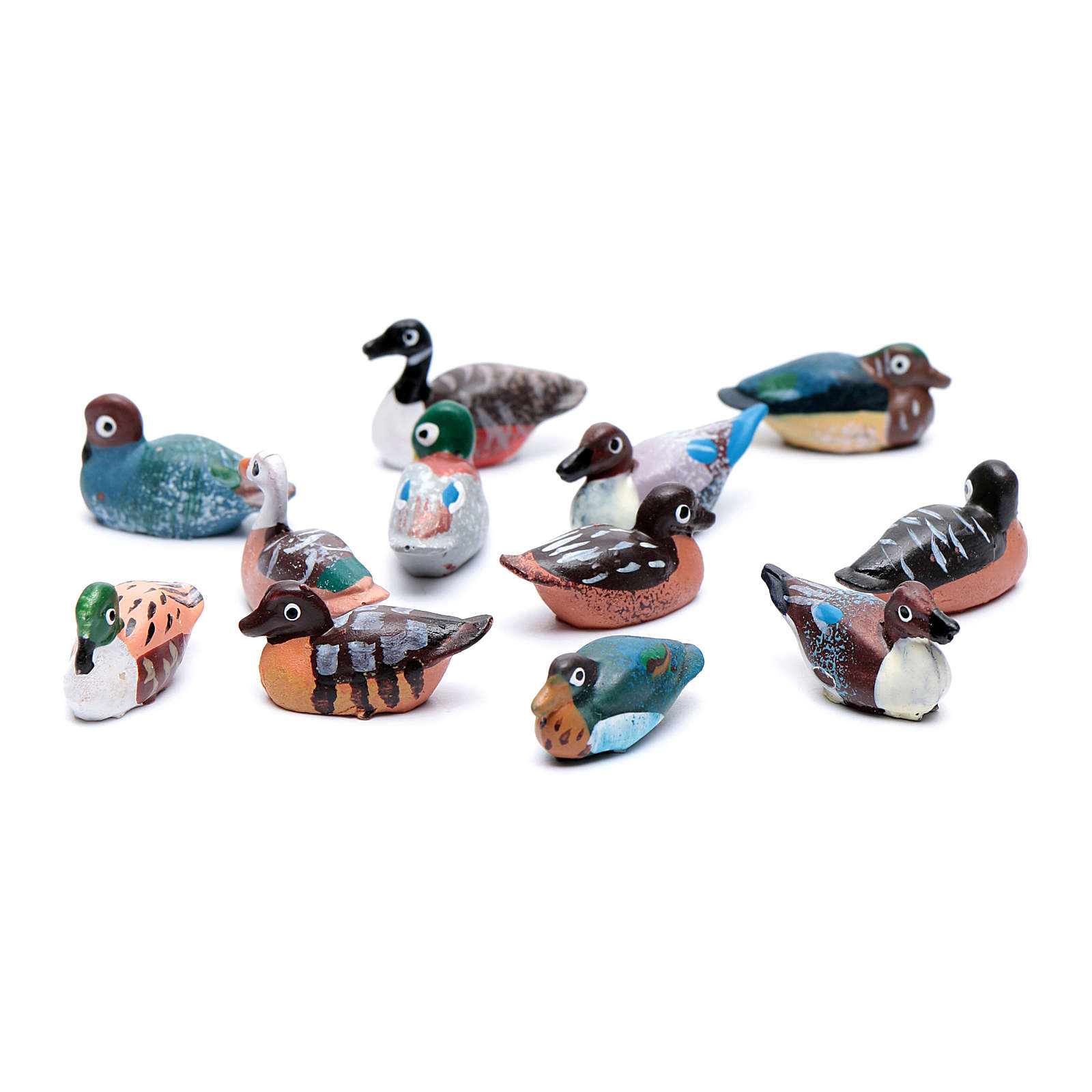 Duck assorted real h 2.5 cm nativity 3