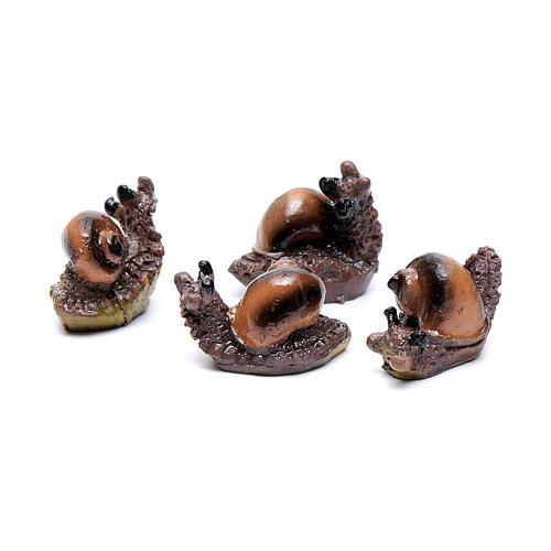 Snail for Nativity Scene real height 2.5 cm 2