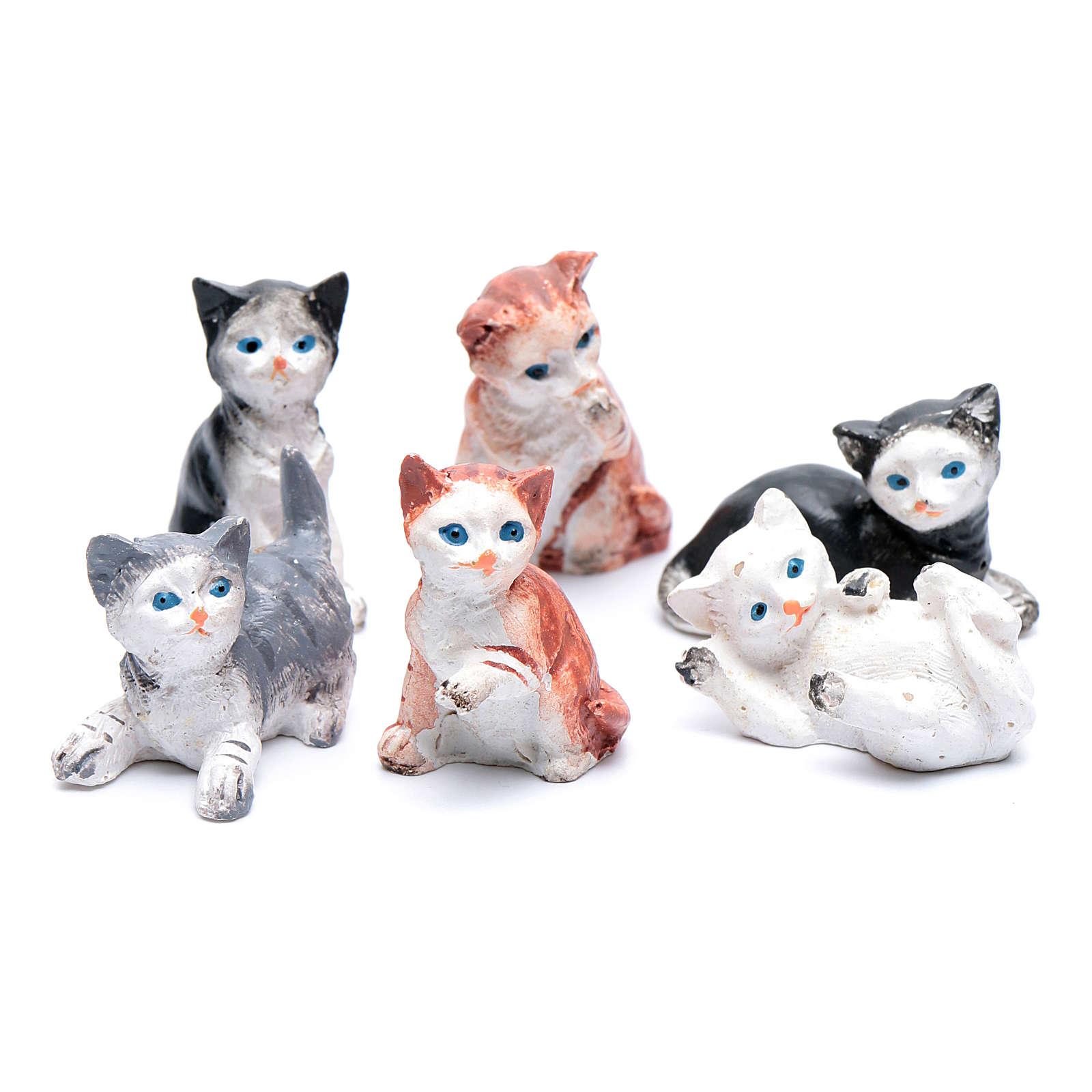 Katze sortiert reale Höhe 3,5-4 cm für DIY-Krippe 3