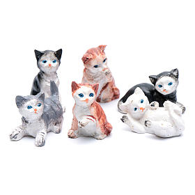 Gatto h 3.5-4 cm presepe assortito s2