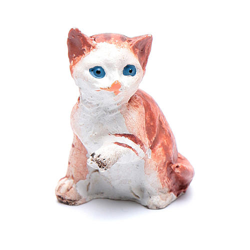 Gatto h 3.5-4 cm presepe assortito 1
