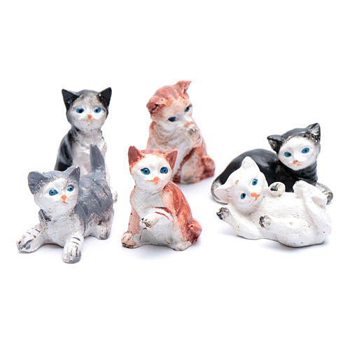 Gatto h 3.5-4 cm presepe assortito 2