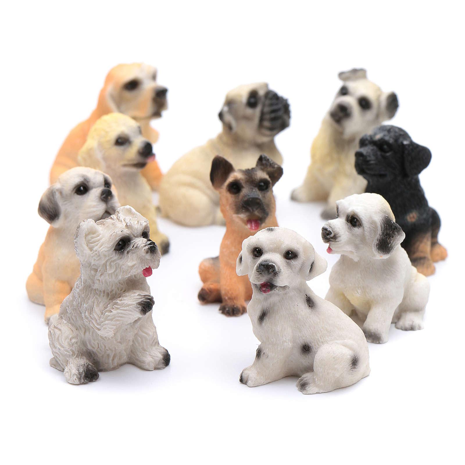 Cão modelos vários presépio altura real 3,5-4 cm 3