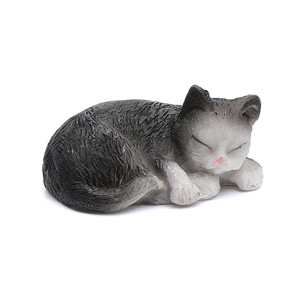 Gatto dormiente assortito 3,5 cm altezza reale presepe 3