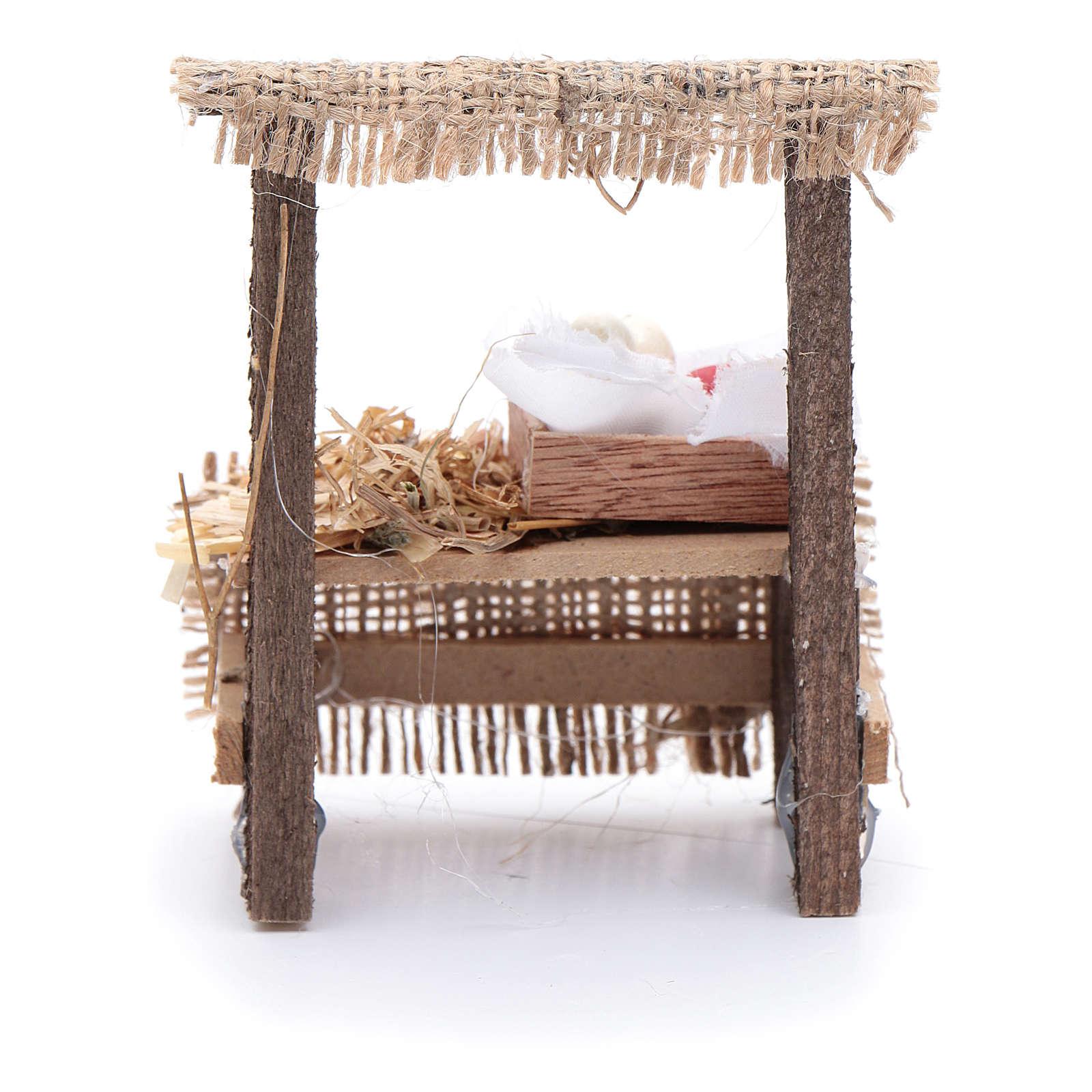 Banchetto presepe 10x5x5 cm con cassettina in legno 4