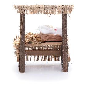 Banchetto presepe 10x5x5 cm con cassettina in legno s3